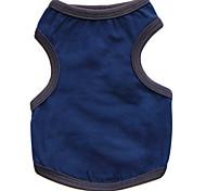 Недорогие -Кошка Собака Футболка Одежда для собак Мода Однотонный Темно-синий Серый Темно-серый Костюм Для домашних животных