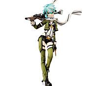 Las figuras de acción del anime Inspirado por Sword Art Online Shino 24 CM Juegos de construcción muñeca de juguete