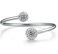 Жен. Браслет цельное кольцо Браслет разомкнутое кольцо Базовый дизайн Мода бижутерия Стерлинговое серебро Шарообразные Бижутерия