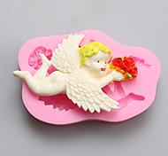 ангел с цветами в руках шоколад силиконовые формы, формы торта, мыло прессформы, инструменты украшения выпекание