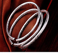 Недорогие -Женский Браслет цельное кольцо Мода бижутерия Стерлинговое серебро Бижутерия Бижутерия Назначение