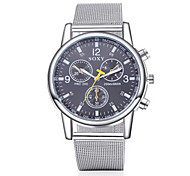cheap -SOXY Men's Dress Watch Quartz Casual Watch Stainless Steel Band Charm Silver