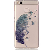 TPU + IMD Material Feather Pattern Slim Phone Case for Huawei P9 Lite/P9/P8 Lite/Y625