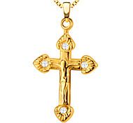 Pendants Metal Cross Shape Golden / White 50