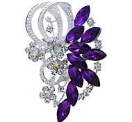 невеста свадьба цветок горный хрусталь брошь для женщин мужские ювелирные аксессуары