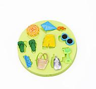 Summer Beach Toy Cupcake Decoration Silicone Chocolate Mold Fondant Color Random