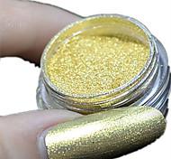 1 Set New Nail Art Magical Clear Gold Glitter Mirror Powder And Eye Shadow Brush Set Nail Beauty #2