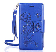 cheap -Butterfly Flower Diamond Flip Leather Cases Cover For Lenovo A2020/A2010 Strap Wallet Phone Bags
