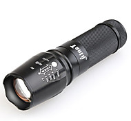 TANLU TanLu 878 LED Flashlights/Torch LED 800-1000 Lumens Mode - 1*26650 Mini Adjustable Focus Rechargeable Waterproof for