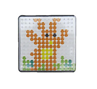 cheap -1PCS Template Clear Pegboard 7.5*7.5cm Square for 5mm Hama Beads Fuse Beads