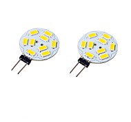 cheap -2pcs 3W 300-350 lm G4 LED Bi-pin Lights T 9 leds SMD 5730 Decorative Warm White Cold White 9-30 DC 24V AC 24V AC 12V DC 12V