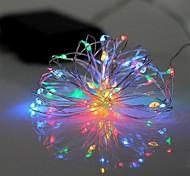Недорогие -Гирлянды 20 светодиоды RGB Белый Водонепроницаемый 220.0
