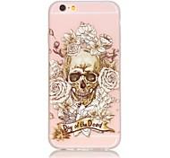 TPU material The New Skull Rose Pattern Luminous Phone Case for  iPhone 6s Plus / 6 Plus/6S/6/SE / 5s / 5