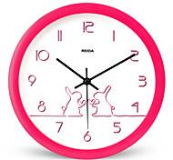 (Цвет случайный) 8 дюймов дети спальне милые часы мультфильма настенные часы немой круговой кварцевые часы