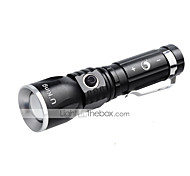 U'King ZQ-986 LED Flashlights / Torch LED 1000LM lm 3 Mode Cree XM-L T6 Zoomable Adjustable Focus Rechargeable Compact Size Dimmable