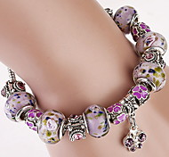 cheap -Women's Crystal Others Charm Bracelet Crystal Bracelet Strand Bracelet - Fashion Beaded Purple Bracelet For Christmas Gifts