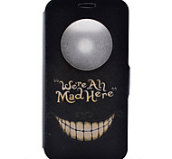 Smiling Face Pattern Pattern Window Clamshell PU Leather Case with Stand and Card Slot for LG G5/G4/G3