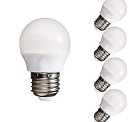 abordables -5 unids 3 w 300-350 lm e26 / e27 bulbos del globo led a60 (a19) 10 leds smd 5730 dimmable decorativo blanco cálido blanco frío 110-130 v 220-240 v