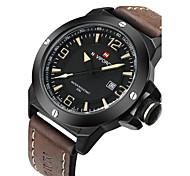 NAVIFORCE Men's Wrist watch Military Watch Fashion Watch Quartz Japanese Quartz Calendar / date / day Water Resistant / Water Proof