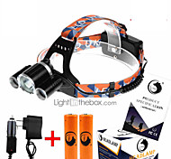 cheap -U'King ZQ-X823 Headlamps Headlight LED 4500 lm 4 Mode Cree XM-L T6 with Batteries and Chargers Compact Size High Power Easy Carrying