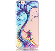 Love Tree Pattern TPU Material Glow in the Dark Soft Phone Case for iPhone 7 7 Plus 6s 6 Plus SE 5s 5