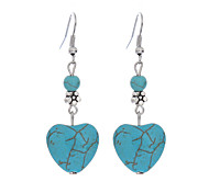 cheap -Women's Heart Silver Plated / Turquoise 1 Drop Earrings - Vintage / Casual / Bohemian Blue Earrings For Daily / Casual