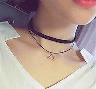 cheap -Women's Star Choker Necklace Pendant Necklace Tattoo Choker - Tattoo Style Basic Adjustable Double-layer Round Square Triangle Star