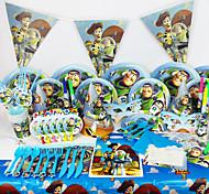 вечеринка история 78pcs день рождения украшения детских evnent украшения партии партийные поставки роскошь игрушка 6 человек используют