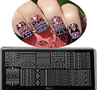 1pcs 12*6CM Nail Art Stamping Plate With High Quality Backplane Design Colorful Image Nail Tools Les Cool01-05