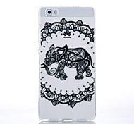 TPU Material Black Elephant Pattern Cellphone Case for Huawei P9Lite/P9/P8Lite