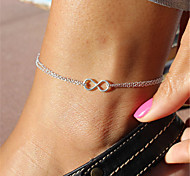 cheap -Infinity Anklet - Women's Silver Unique Design / Fashion Jewelry / Infinity Anklet For Christmas Gifts / Party / Daily