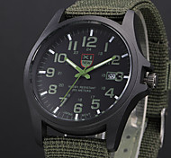 New Arrival Brand XINEW Army Watches for Men Unique Design Nylon Band Calendar Casual Quartz Watch Reloj Hombre Marca