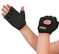 Недорогие -Спортивные перчатки Перчатки для велосипедистов Влагопроницаемость Дышащий Износостойкий Меньше трения Ударопрочность Без пальцев Лайкра