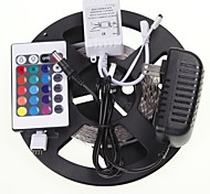5M 16.4ft  RGB 300x5630 SMD LED  Flexible LED Light Strips + RGB Controlers + Power Supply AC100-240V
