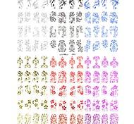 Недорогие -новый 3d 108 шт переноса кружева цветок воды дизайн ногтей наклейки искусства отличительные знаки для УФ-гель для ногтей ногтей советы