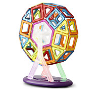 cheap -Magnet Toys Building Blocks Jigsaw Puzzle Magnetic Blocks Magnetic Building Sets 64 Pieces Toys Iron ABS Metal High Quality Lovely