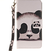 Painted Panda Pattern Card Can Lanyard PU Phone Case For Sony Z2 Z3 Z3mini M4
