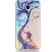 TPU material The New Tree Lovers Pattern Luminous Phone Case for GalaxyJ710/J510/J3/J120/G530/G360/I9060
