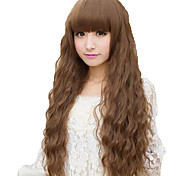 Shocking New Ultra low-Cost European And American Fashion Hot Long Hair Fluffy Wig Corn