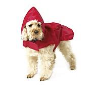 Кошка Собака Дождевик Одежда для собак Водонепроницаемый Однотонный Черный Красный Синий Костюм Для домашних животных
