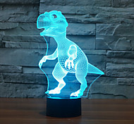 Dinosaur Touch Dimming 3D LED Night Light 7Colorful Decoration Atmosphere Lamp Novelty Lighting Christmas Light