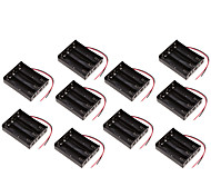 10PCS   18650 battery box battery holder section 3 11.1V three series protection board 18650 lithium battery cartridge