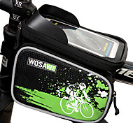 WOSAWE Cell Phone Bag Bike Frame Bag 6 inch Waterproof Reflective Rain-Proof Waterproof Zipper Wearable Touch Screen Phone/Iphone
