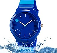 cheap -Children's Wrist watch Fashion Watch Quartz Colorful Plastic Band Leaves Candy color Casual Cool Stripes Blue