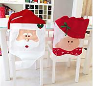 1 пара рождества крышки стула Санта-Клаус Новый год украшения Рождественские украшения домашнего декора шляпы веселую продажа