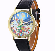 Women's Fashion Analog Stripe Ladies' Christmas Snowflake Display Strap Bohemia Quartz Wrist Watch