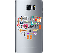 I love music TPU Soft Back Cover Case for  Samsung Galaxy S6  S7 edge Plus