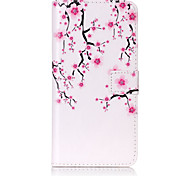 PU Leather Material Plum Flower Pattern Painting Pattern  Phone Cases for iPhone 7 Plus/7/6s Plus / 6 Plus/6S/6/SE / 5s