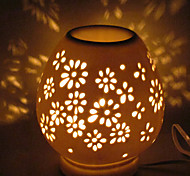 1PC Ceramic Plug-In Electric That Move Light Hollow Out Fragrance Lamp Little Night  Light