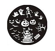 cheap -Halloween Design Round Stainless Steel Nail Plates